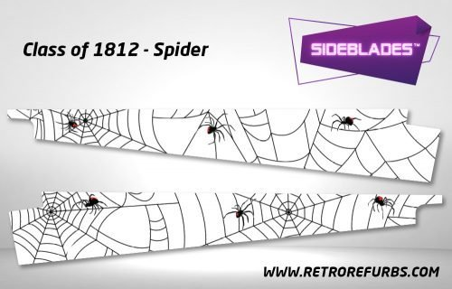 Class of 1812 Spider Pinball Sideblades Inside Inner Art Decals Sideboard Art Pin Blades