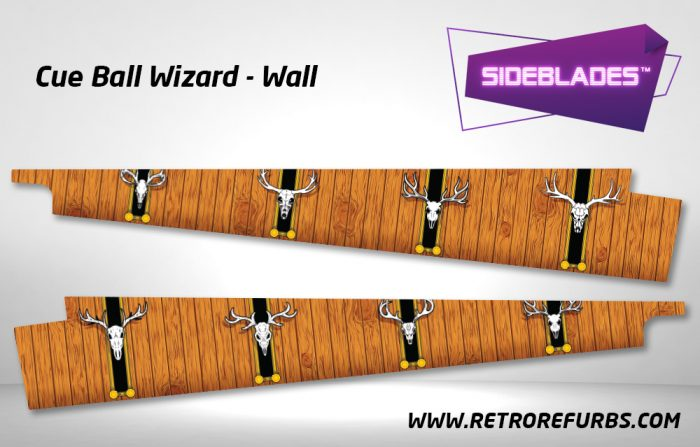Cue Ball Wizard Wall Pinball Sideblades Inside Inner Art Decals Sideboard Art Pin Blades