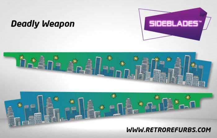 Deadly Weapon Pinball Sideblades Inside Inner Art Decals Sideboard Art Pin Blades