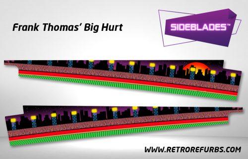 Frank Thomas Big Hurt Pinball Sideblades Inside Inner Art Decals Sideboard Art Pin Blades