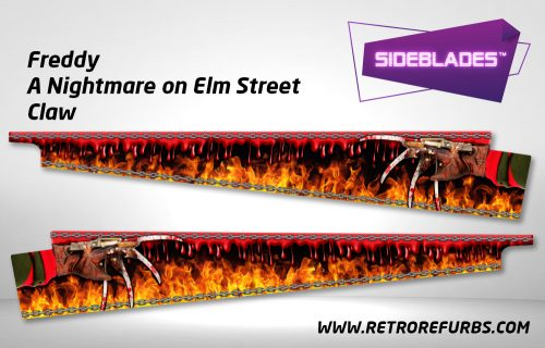 Freddy A Nightmare on Elm Street Claw Pinball Sideblades Inside Inner Art Decals Sideboard Art Pin Blades