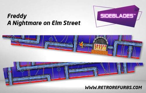 Freddy A Nightmare on Elm Street Pinball Sideblades Inside Inner Art Decals Sideboard Art Pin Blades
