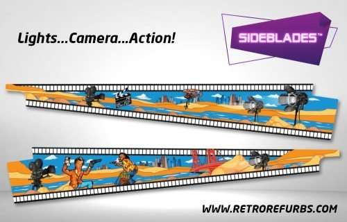 Lights Camera Action Pinball Sideblades Inside Inner Art Decals Sideboard Art Pin Blades