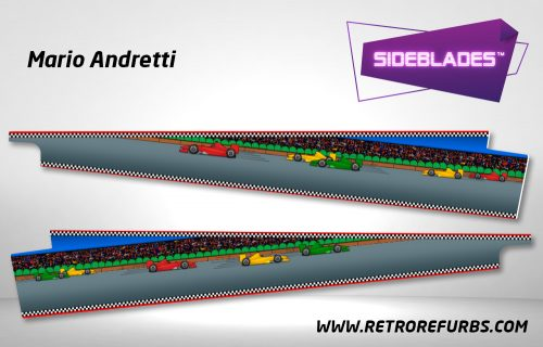 Mario Andretti Pinball Sideblades Inside Inner Art Decals Sideboard Art Pin Blades