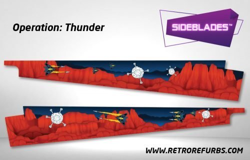 Operation Thunder Pinball Sideblades Inside Inner Art Decals Sideboard Art Pin Blades