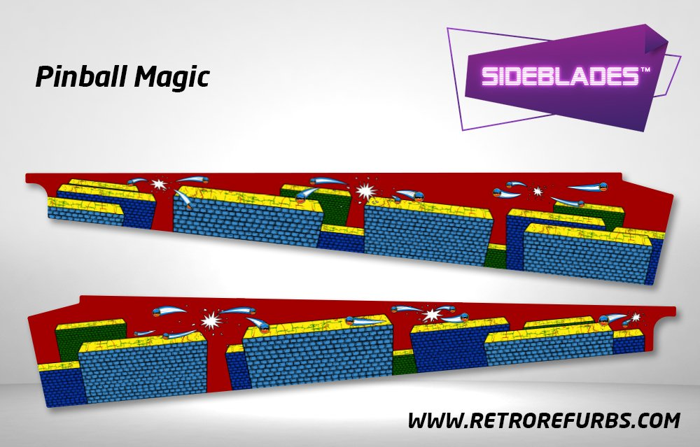 Pinball Magic Pinball Sideblades Inside Inner Art Decals Sideboard Art Pin Blades