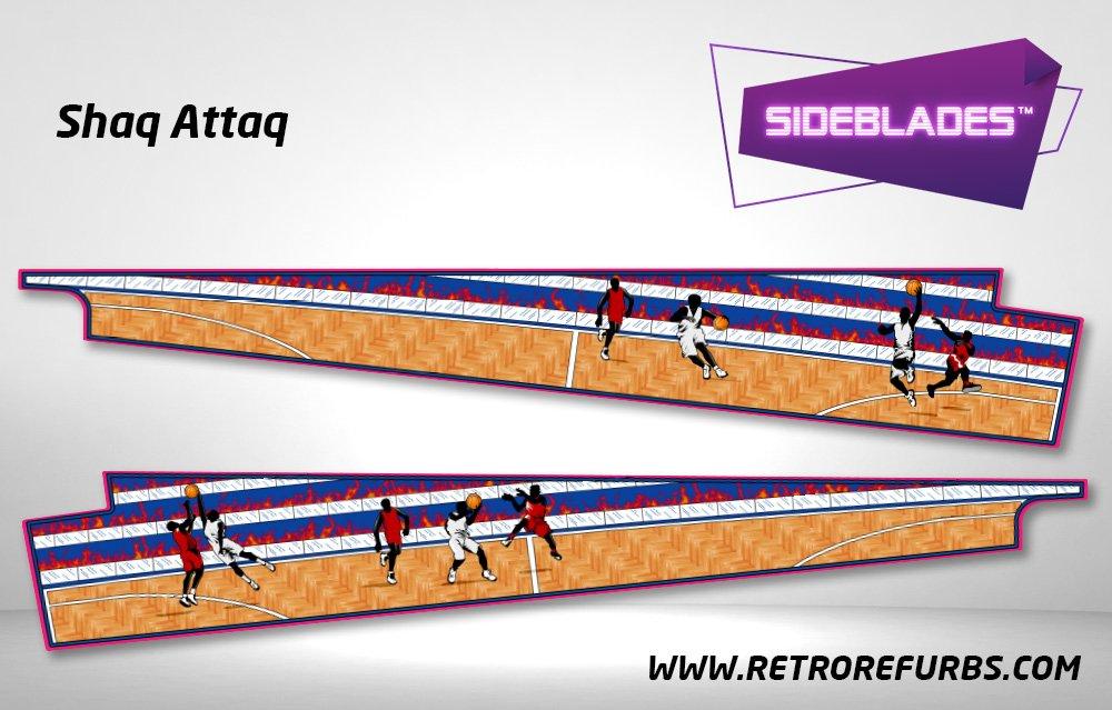 Shaq Attaq Pinball Sideblades Inside Inner Art Decals Sideboard Art Pin Blades