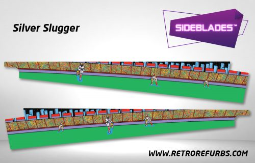 Silver Slugger Pinball Sideblades Inside Inner Art Decals Sideboard Art Pin Blades