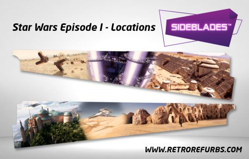 Star Wars Episode I Locations Pinball Sideblades Inside Inner Art Decals Sideboard Art Pin Blades