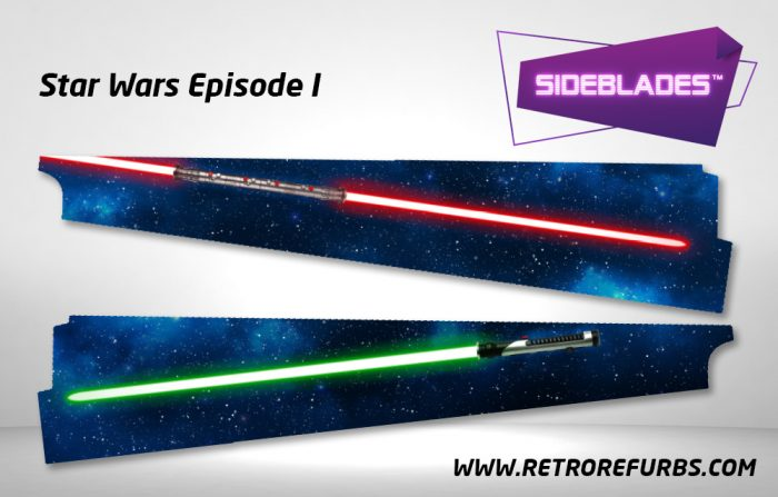 Star Wars Episode I Pinball Sideblades Inside Inner Art Decals Sideboard Art Pin Blades