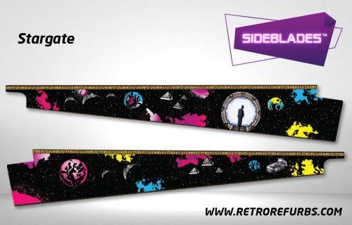 Stargate Pinball Sideblades Inside Inner Art Decals Sideboard Art Pin Blades