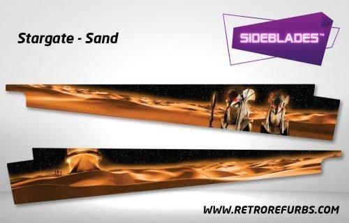 Stargate Sand Pinball Sideblades Inside Inner Art Decals Sideboard Art Pin Blades