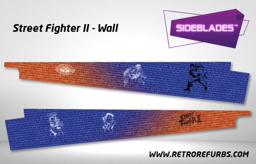 Street Fighter II Wall Pinball Sideblades Inside Inner Art Decals Sideboard Art Pin Blades