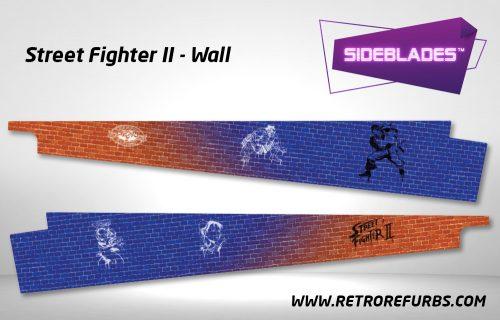 Street Fighter II Wall Pinball Sideblades Inside Inner Art Decals Sideboard Art Pin Blades
