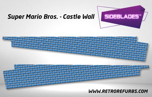 Super Mario Bros Castle Wall Pinball Sideblades Inside Inner Art Decals Sideboard Art Pin Blades