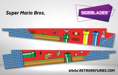 Super Mario Bros Pinball Sideblades Inside Inner Art Decals Sideboard Art Pin Blades