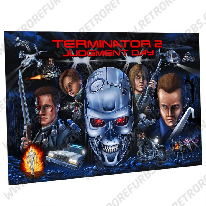 Terminator 2 Hand Drawn Alternate Translite from Retro Refurbs