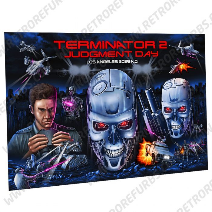 Terminator 2 Los Angeles 2029 AD LA2029AD Hand Drawn Alternate Translite from Retro Refurbs