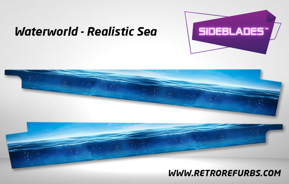 Waterworld Realistic Sea Pinball Sideblades Inside Inner Art Decals Sideboard Art Pin Blades