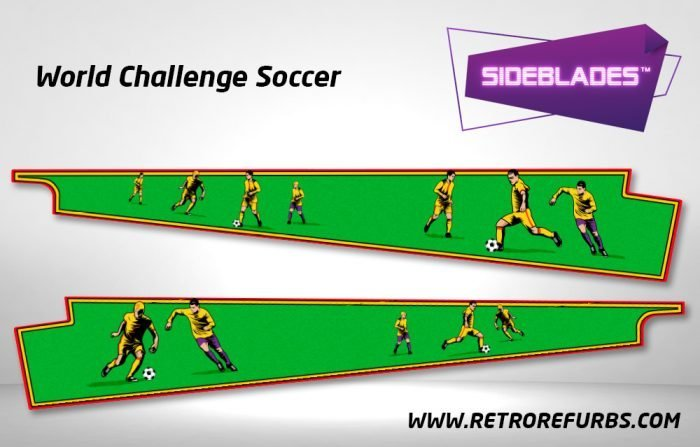 World Challenge Soccer Pinball Sideblades Inside Inner Art Decals Sideboard Art Pin Blades