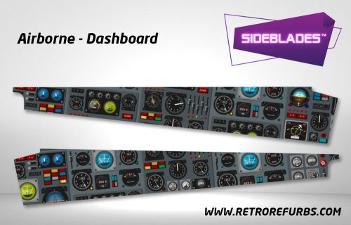 Airborne Dashboard Pinball Sideblades Inside Inner Art Decals Sideboard Art Pin Blades