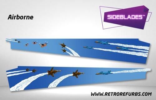 Airborne Pinball Sideblades Inside Inner Art Decals Sideboard Art Pin Blades