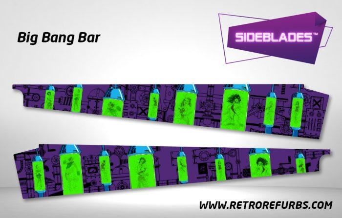 Big Bang Bar Pinball Sideblades Inside Inner Art Decals Sideboard Art Pin Blades
