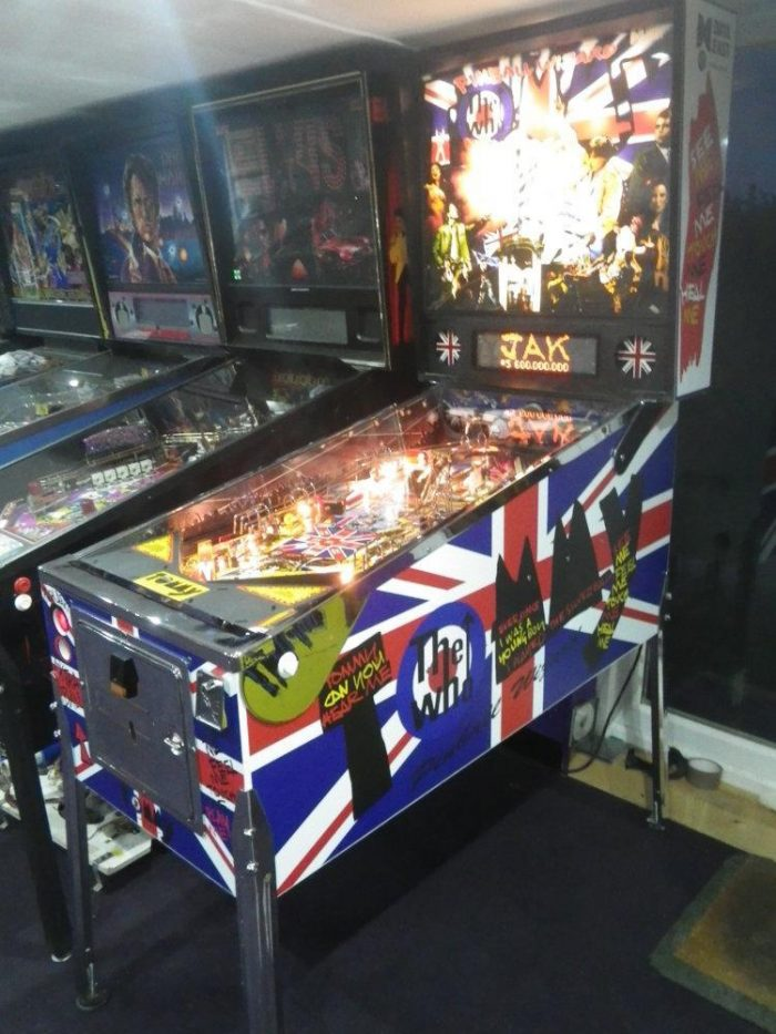 Tommy The Who British Union Jack Flag Cabinet Decals Pinball Game