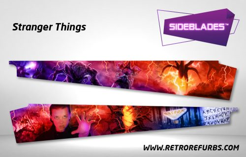 Stranger Things Pinball Sideblades Inside Inner Art Decals Sideboard Art Pin Blades
