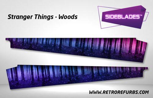 Stranger Things Woods Pinball Sideblades Inside Inner Art Decals Sideboard Art Pin Blades