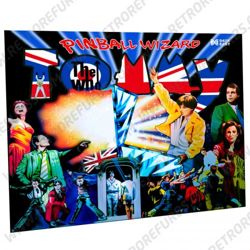 The Who's Tommy Union Jack Alternate Pinball Translite Alternative Flipper Backglass