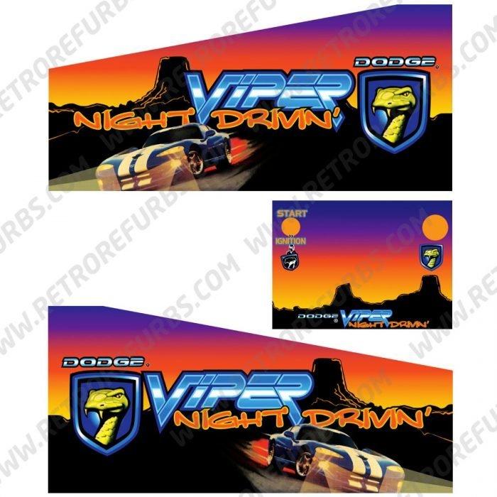 Viper Night Drivin Pinball Cabinet Decals Flipper Side Art
