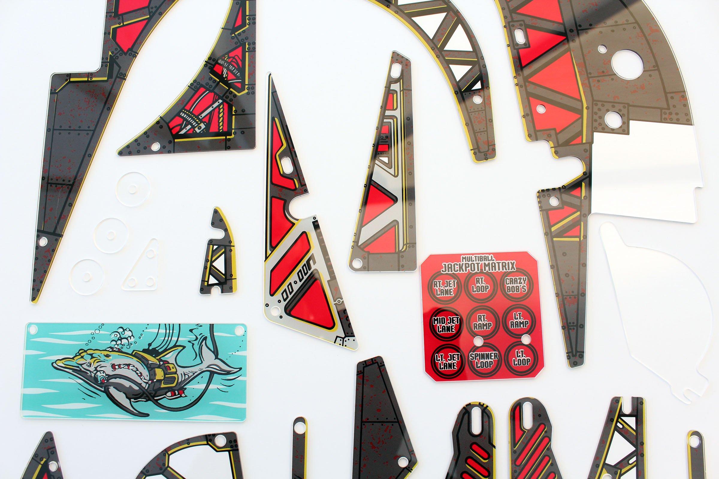 Johnny Mnemonic Pinball Plastic Set Closeup Detail 12