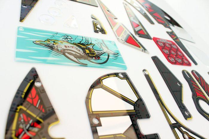 Johnny Mnemonic Pinball Plastic Set Closeup Detail 10