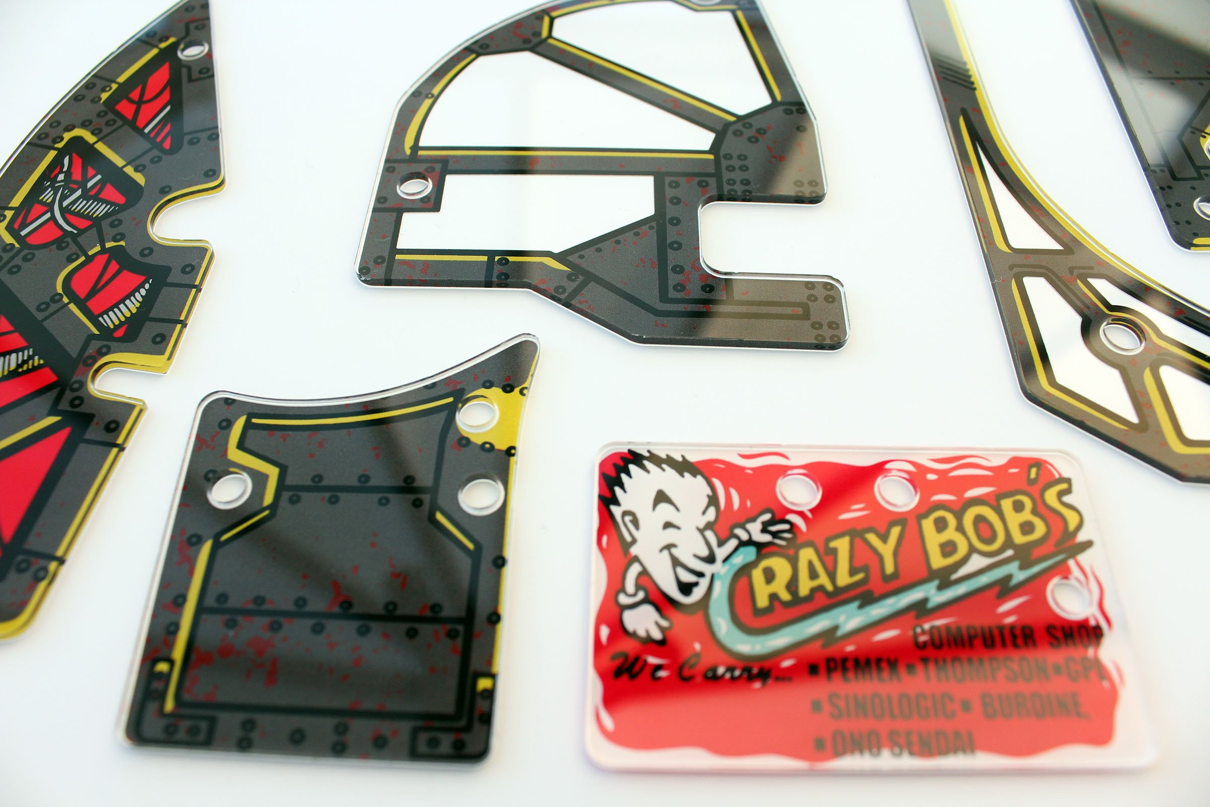 Johnny Mnemonic Pinball Plastic Set Closeup Detail 9