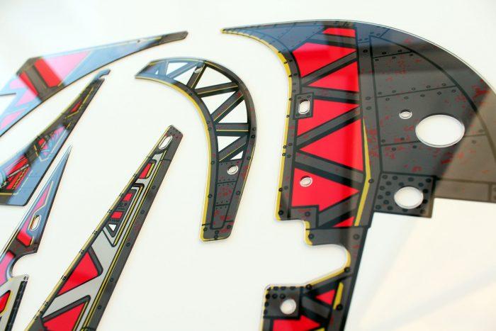 Johnny Mnemonic Pinball Plastic Set Closeup Detail 7