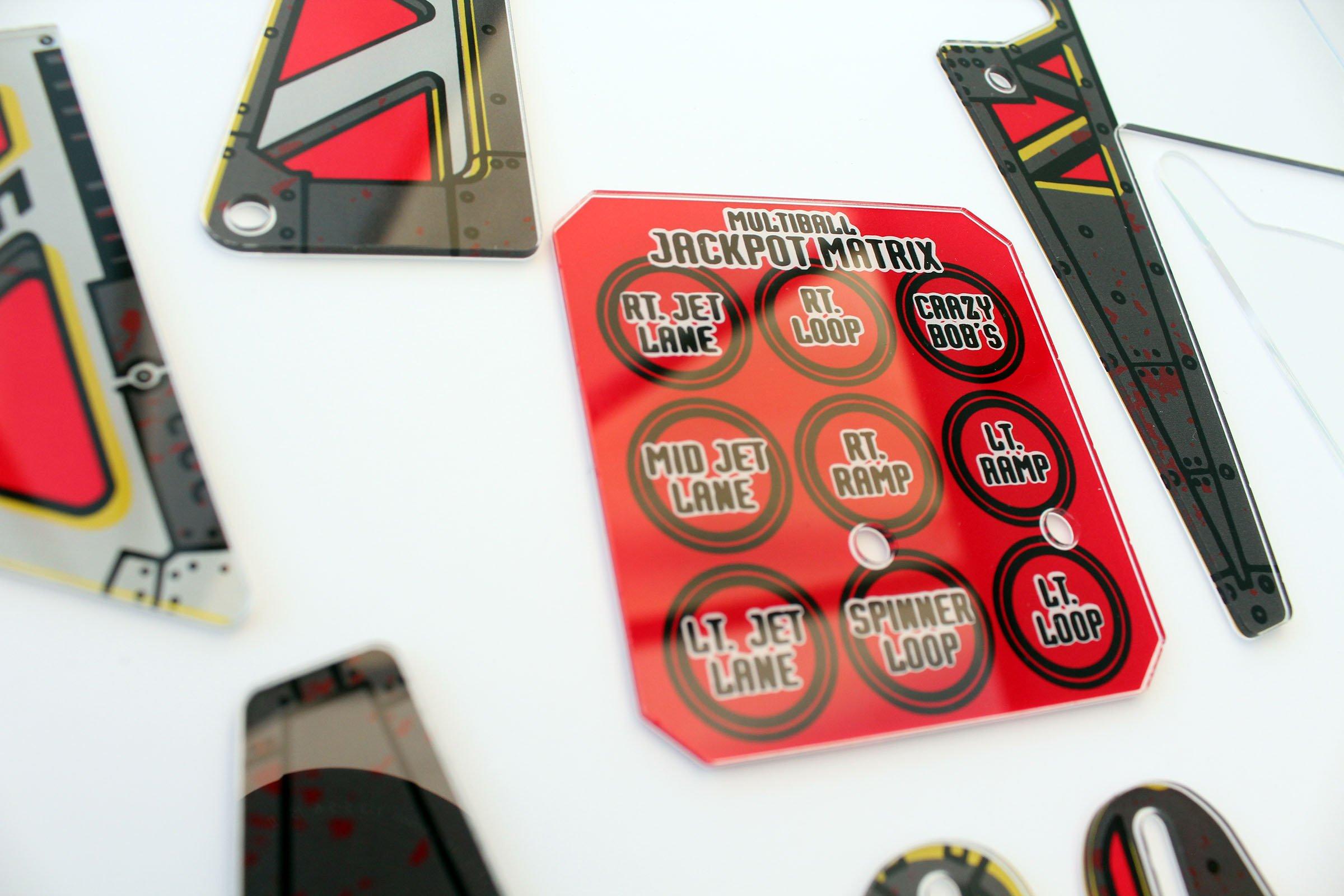Johnny Mnemonic Pinball Plastic Set Closeup Detail 6