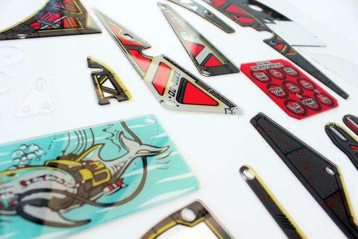 Johnny Mnemonic Pinball Plastic Set Closeup Detail 5