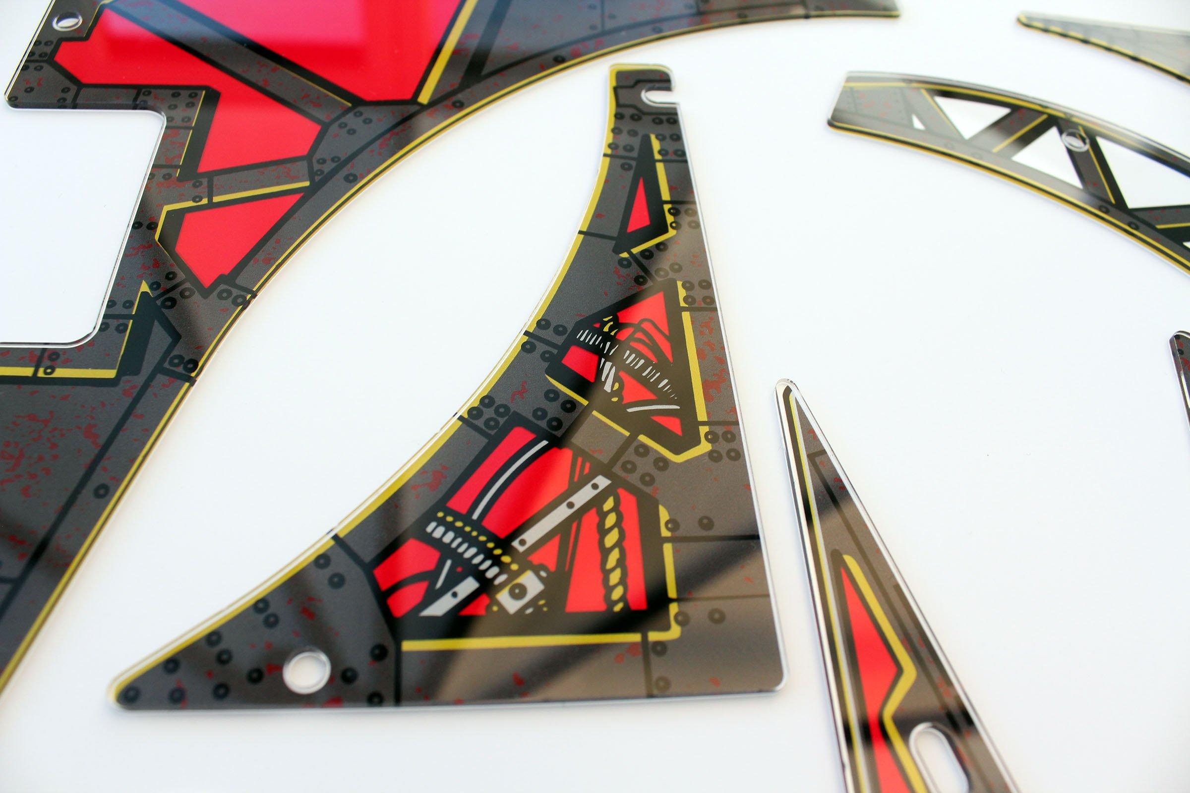 Johnny Mnemonic Pinball Plastic Set Closeup Detail 4