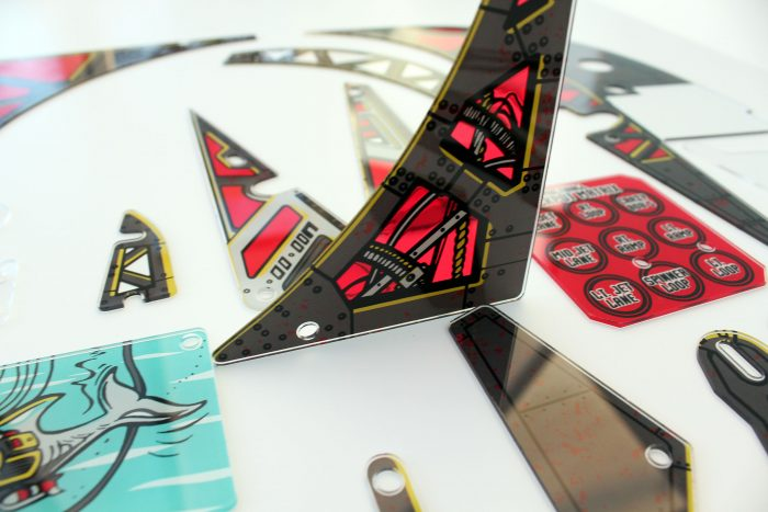 Johnny Mnemonic Pinball Plastic Set Closeup Detail 3