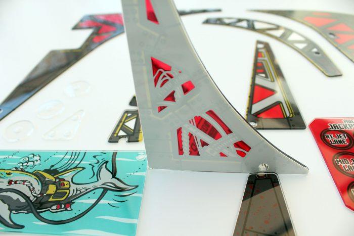Johnny Mnemonic Pinball Plastic Set Closeup Detail 2