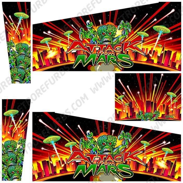Attack From Mars Martians Alternate Alternate Pinball Cabinet Decals Flipper Side Art Custom Stern