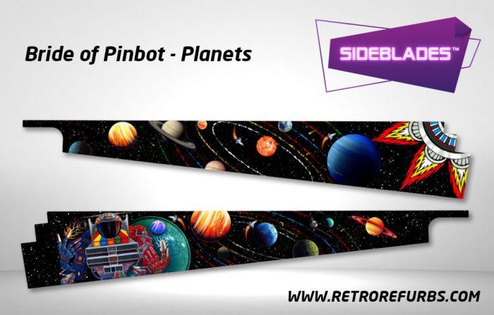 Bride of Pinbot Planets Pinball Sideblades Inside Inner Art Decals Sideboard Art Pin Blades