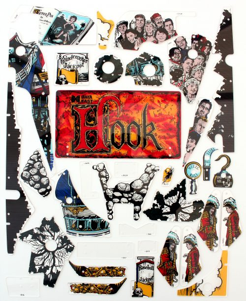 Hook Pinball Plastic Set Full Flipper Plastics