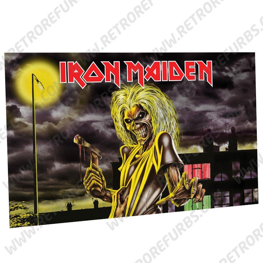Iron Maiden Killers Alternate Pinball Translite Backglass Flipper Display by Retro Refurbs