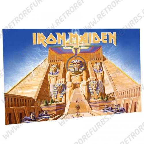 Iron Maiden Powerslave Alternate Pinball Translite Backglass Flipper Display by Retro Refurbs
