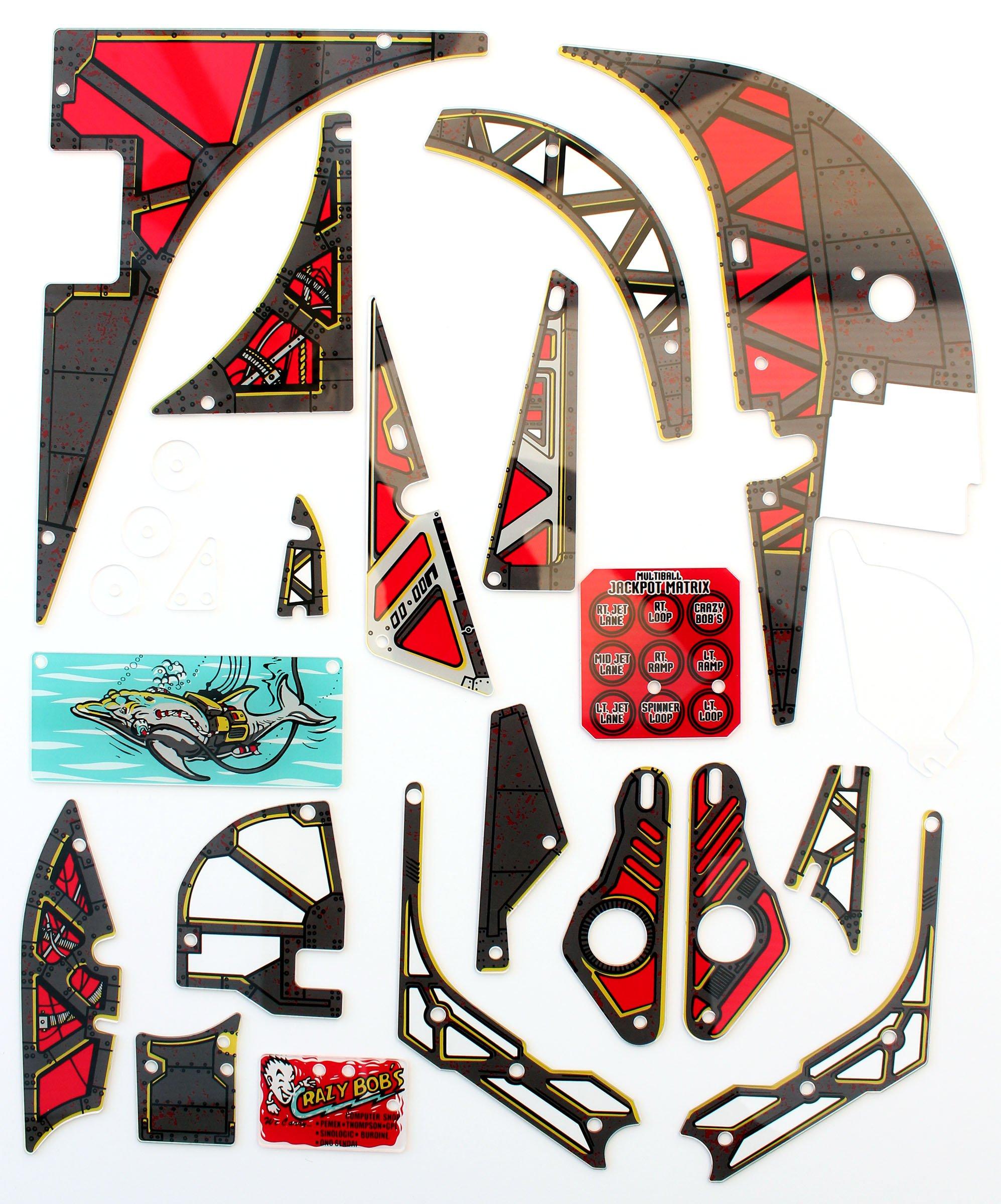 Johnny Mnemonic Pinball Plastic Set Full Flipper Plastics