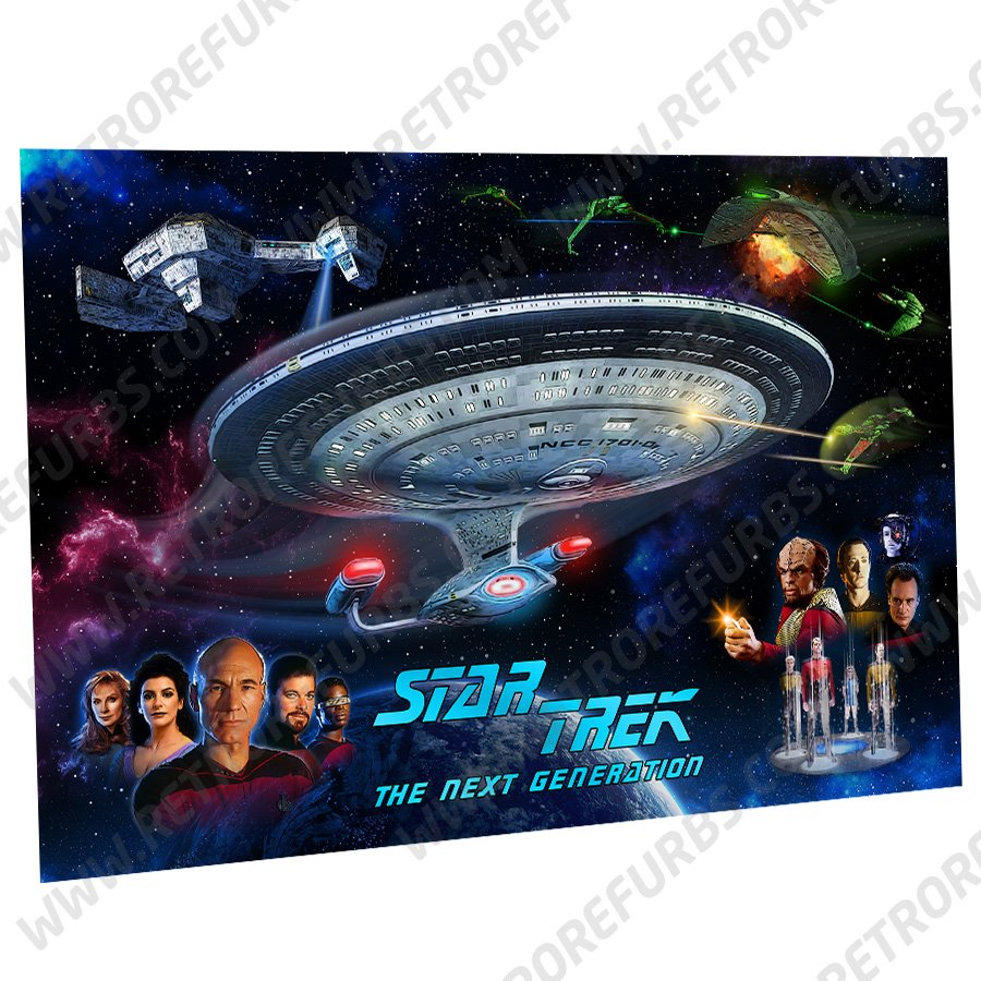 Star Trek The Next Generation Characters Alternate Pinball Translite Backglass Flipper Display by Retro Refurbs