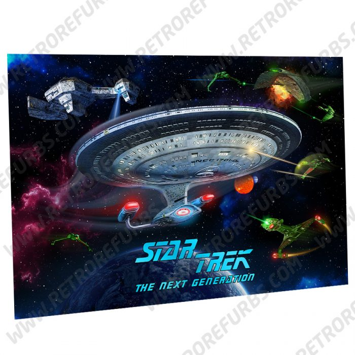 Star Trek The Next Generation Enterprise Alternate Pinball Translite Backglass Flipper Display by Retro Refurbs