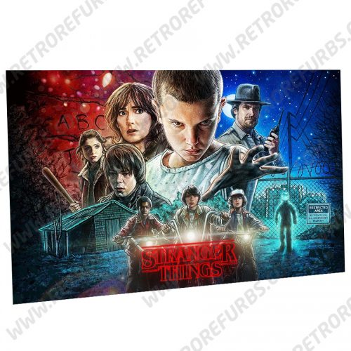 Stranger Things (Season 1) Alternate Pinball Translite Backglass Flipper Display by Retro Refurbs
